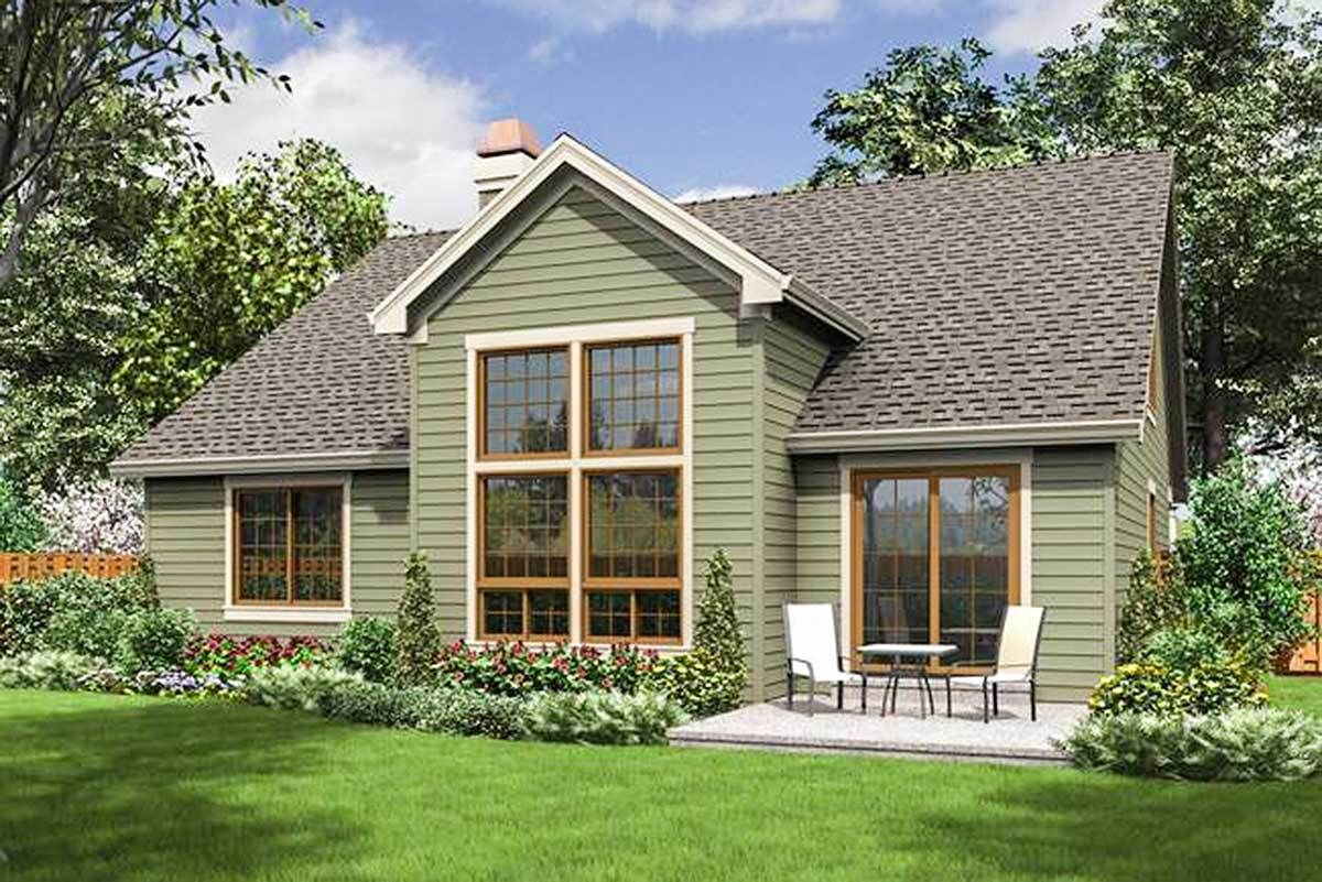 Plan 6858AM: Compact Craftsman Style #craftsmanstylehomes
