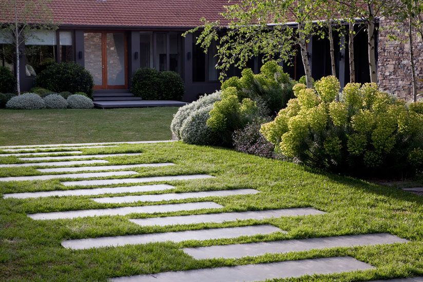 Exceptionnel Rectangular Garden Stepping Stone Ideas