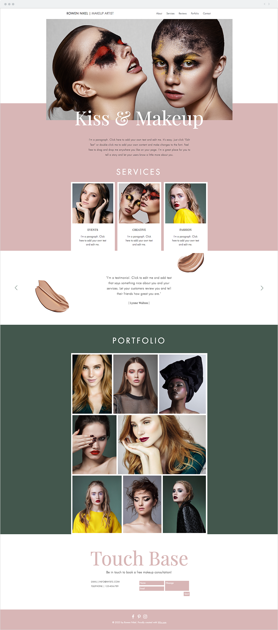 The Make Up Artist Website Template