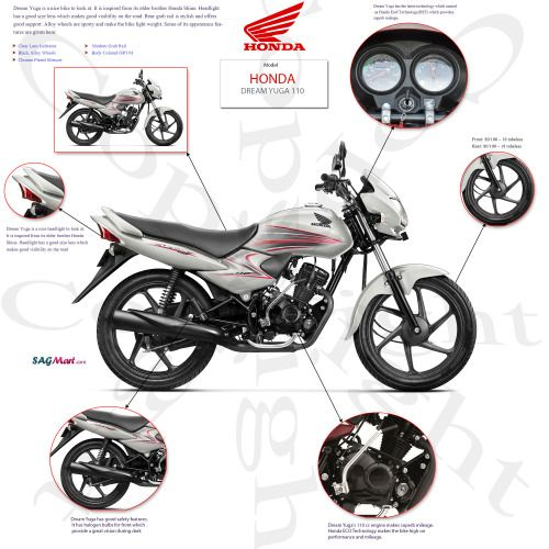 Honda Dream Yuga The Dream Machine At Sagmart Dream Machine Honda Bike