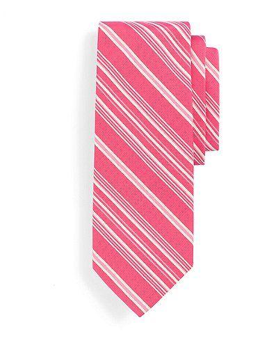 A pink striped tie