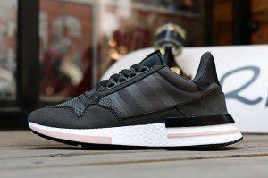 ec10f171b0965 Mens Womens Adidas Originals ZX500 RM Boost Charcoal Gray Running Shoes