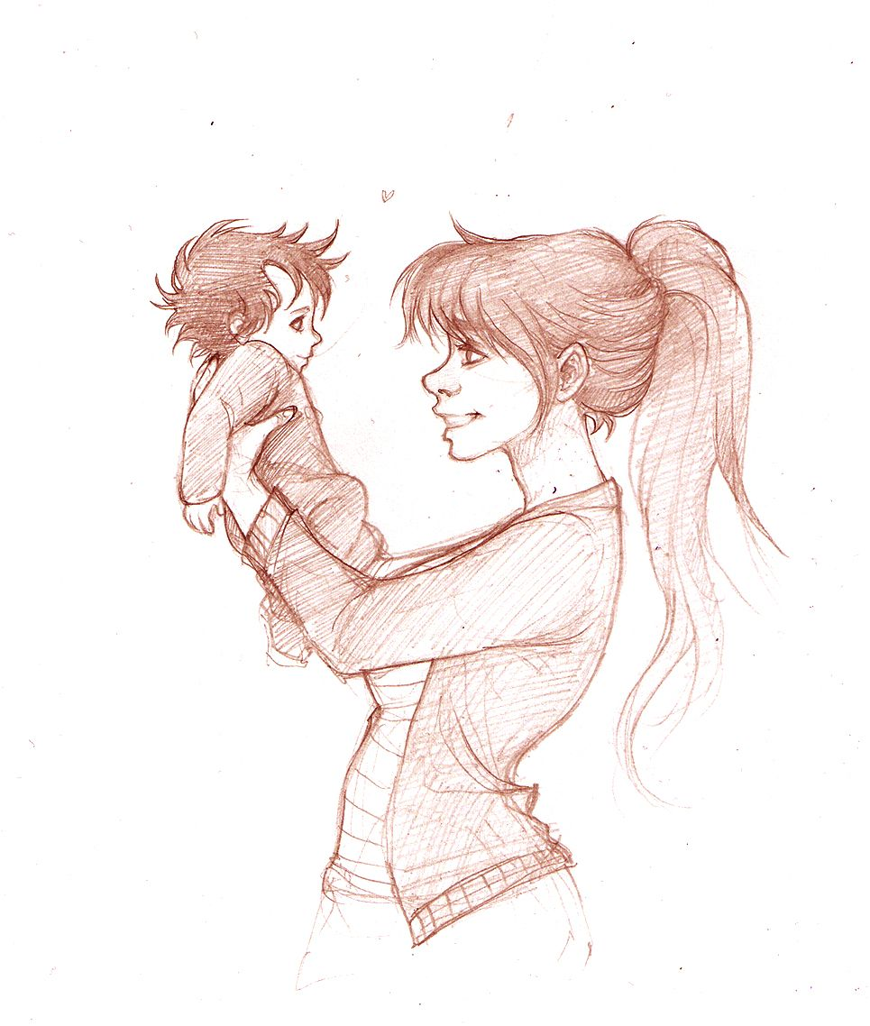 Lily and baby Harry by