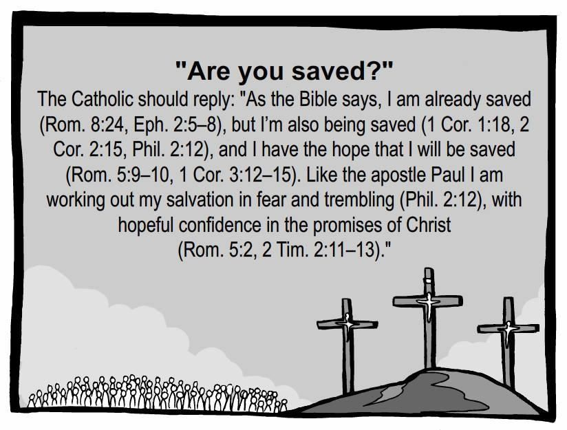 "Are you saved?""--Just went through this with my children this week ..."