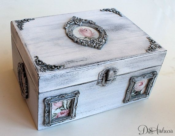 WOODEN JEWELLERY BOX FOR DECOUPAGE