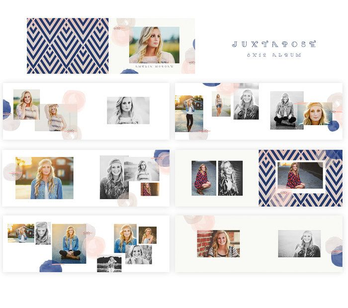 Juxtapose 8x12 WHCC Album FREE 12x12 Papers от SnapBoutique