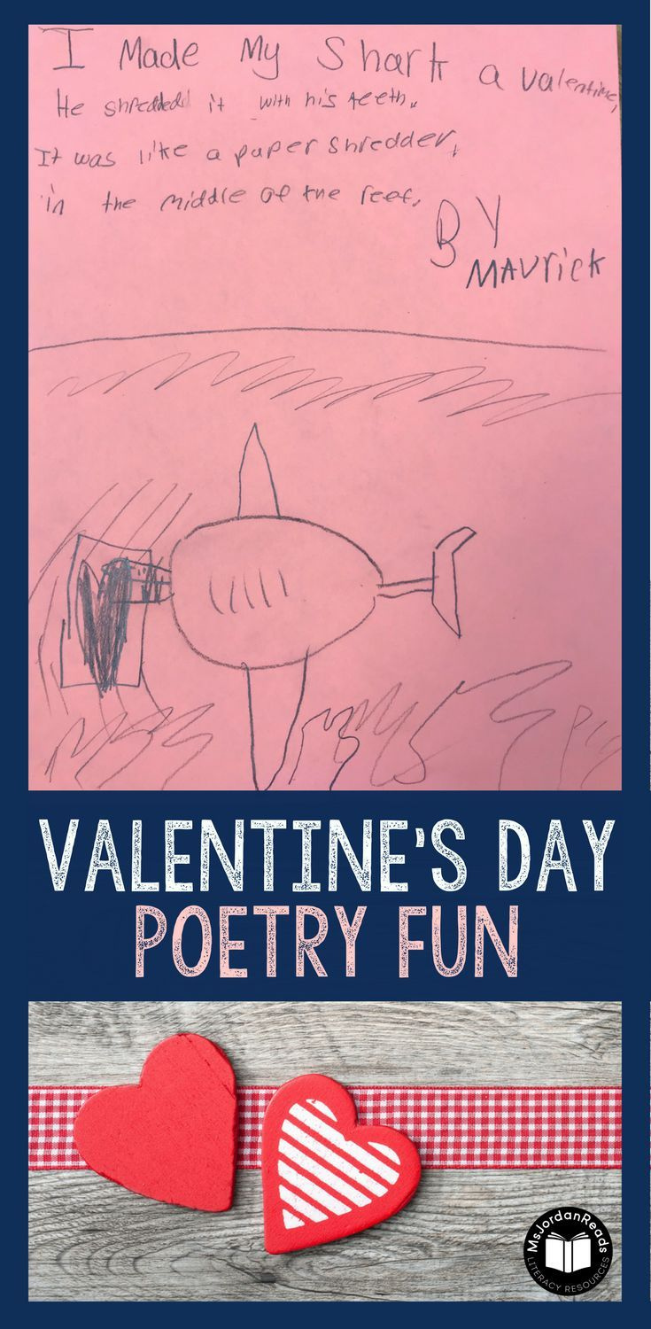 """Valentine's Day is the perfect opportunity for students to read silly poems and write their own! Using Jack Prelutsky's poem: """"I Gave My Dog a Valentine,"""" students will enjoy writing their own versions of the poem!   Read more about this fun classroom activity on @msjordanreads blog!  via @msjordanreads"""