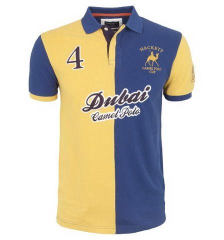 ralph lauren outlet store online Hackett London Dubai Camel Polo Shirt  Yellow Blue http:/