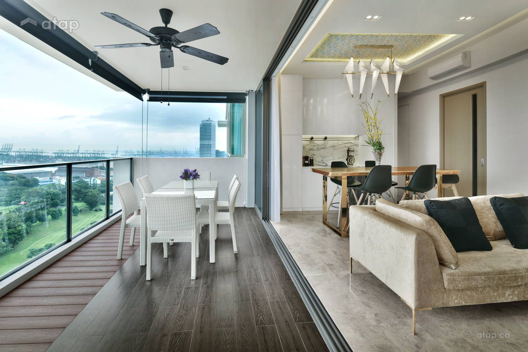 Contemporary Modern Balcony Dining Room Apartment Design Ideas Photos Malaysia