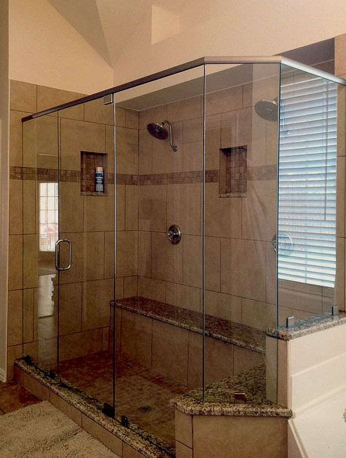 Frameless Neo-Angle Shower Enclosure | my ideal bathroom | Pinterest ...