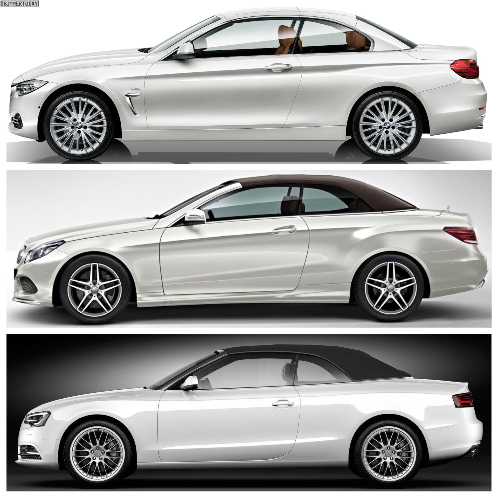 Bmw 4 Series Convertible Vs Mercedes Benz E Class Vs Audi A5