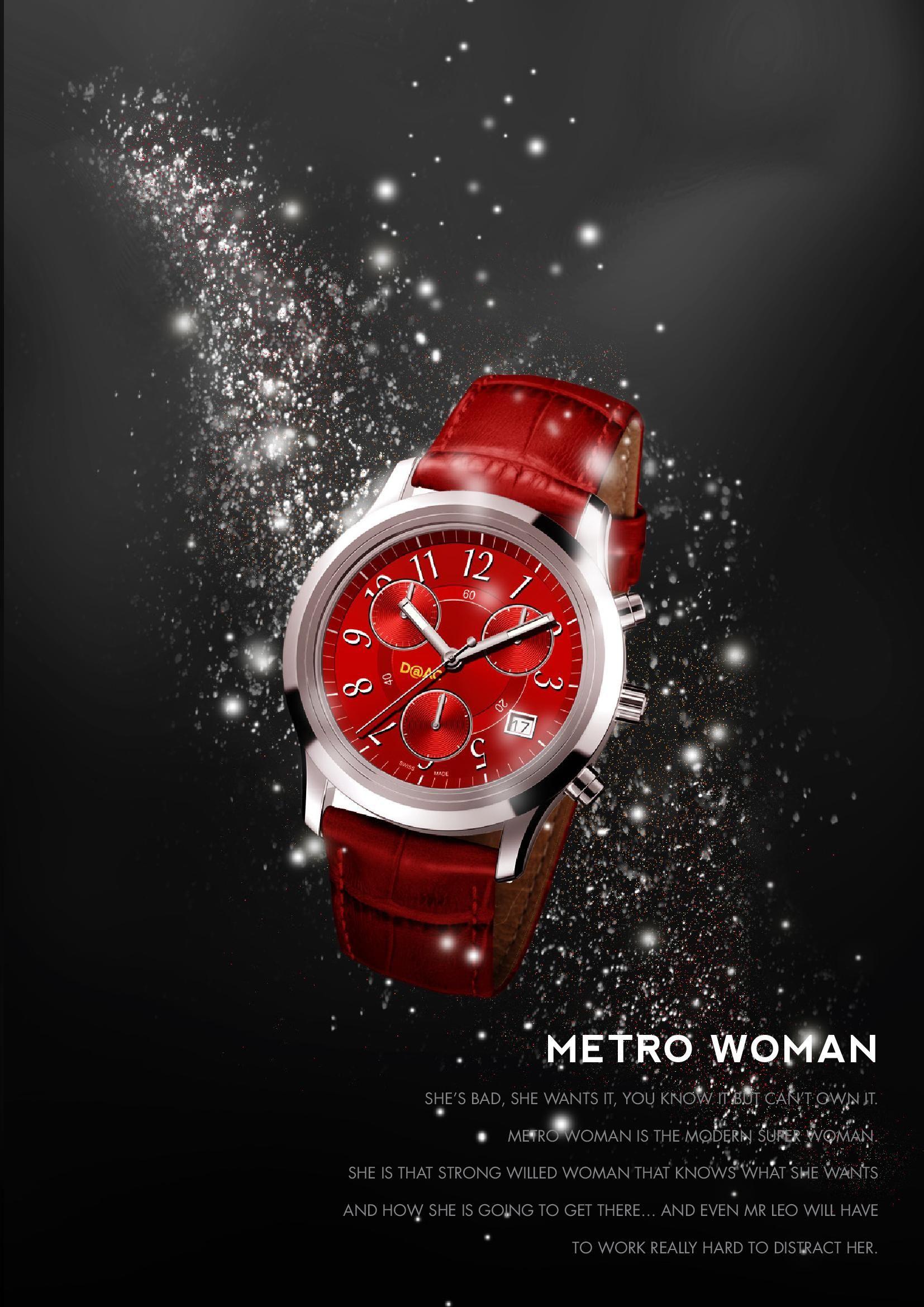 Metro Woman Chrono Wrist Watch Design Women Chrono