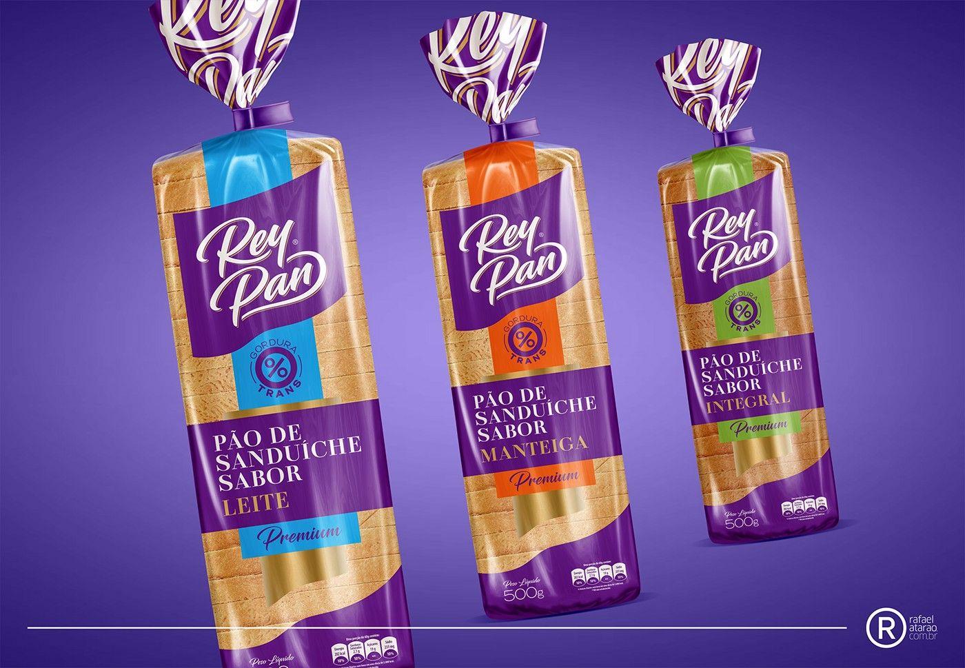 Bread Packing Brazil On Behance Bread Packaging Packaging Design Bakery Packaging