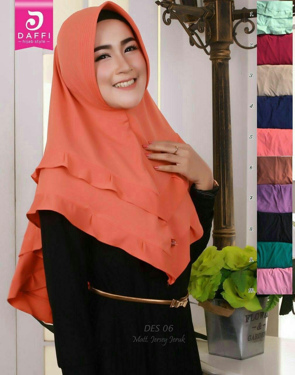 Jilbab Langsung Pakai Pendek Jilbab Dengan Pet Model Susun 2 Bahan