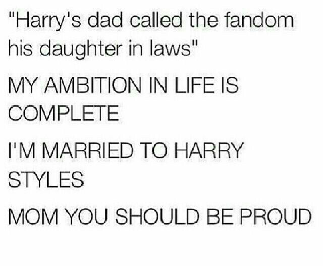Well I already knew that I was married to him