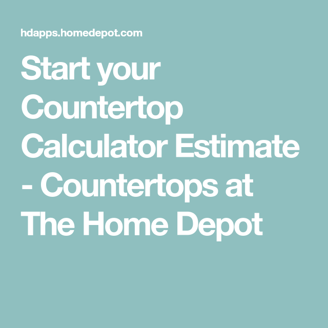 Start your Countertop Calculator Estimate - Countertops at