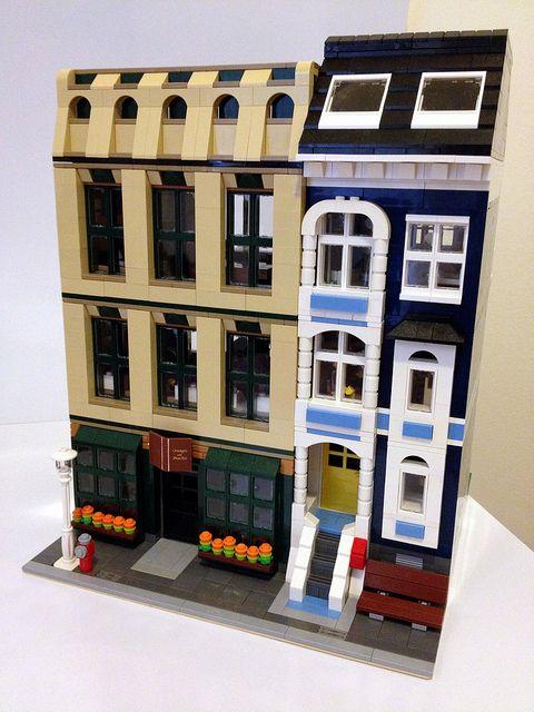Modular Lego Bookstore Lego Buildings Pinterest Lego Lego