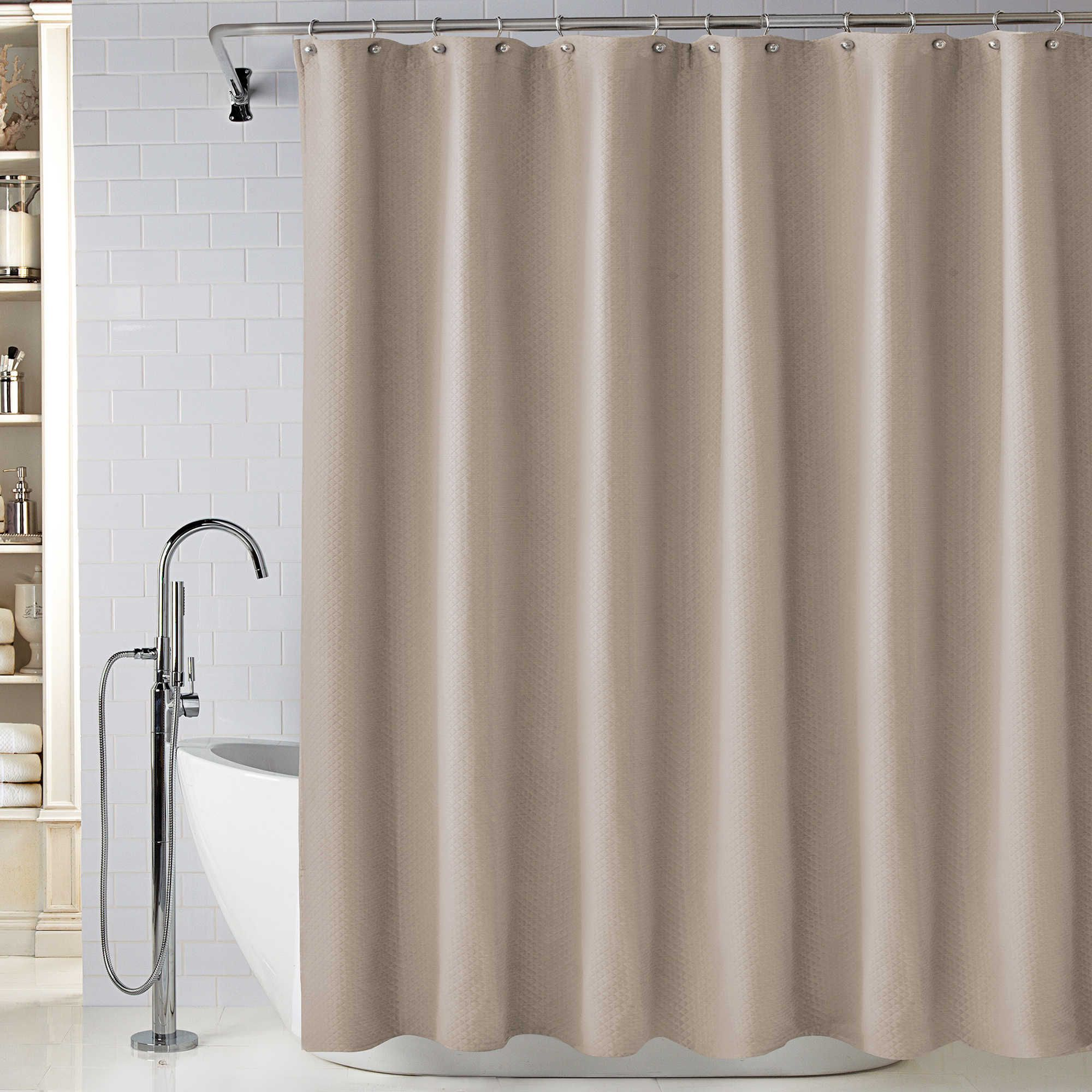 Wamsutta Diamond Matelasse Shower Curtain Elegant Shower