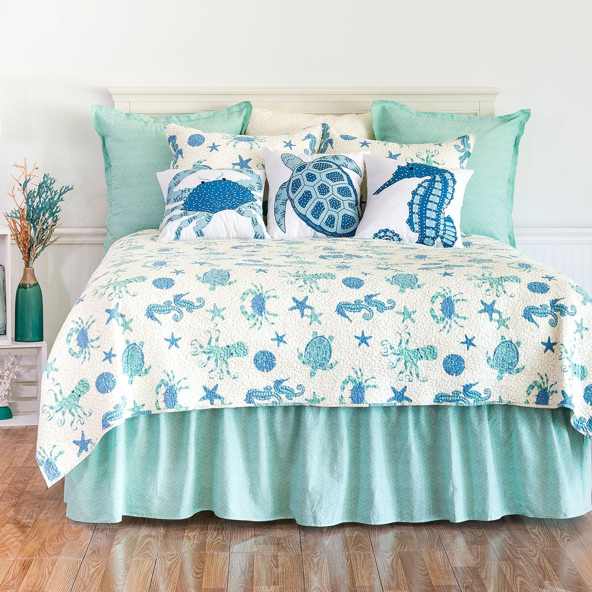 Sea Life Ocean Themed Mini Quilt Set With Images Quilt Sets