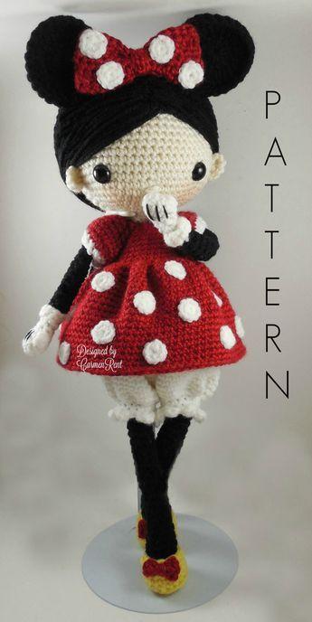Minnie - Amigurumi Doll Crochet Pattern PDF   Häkeln für baby ...