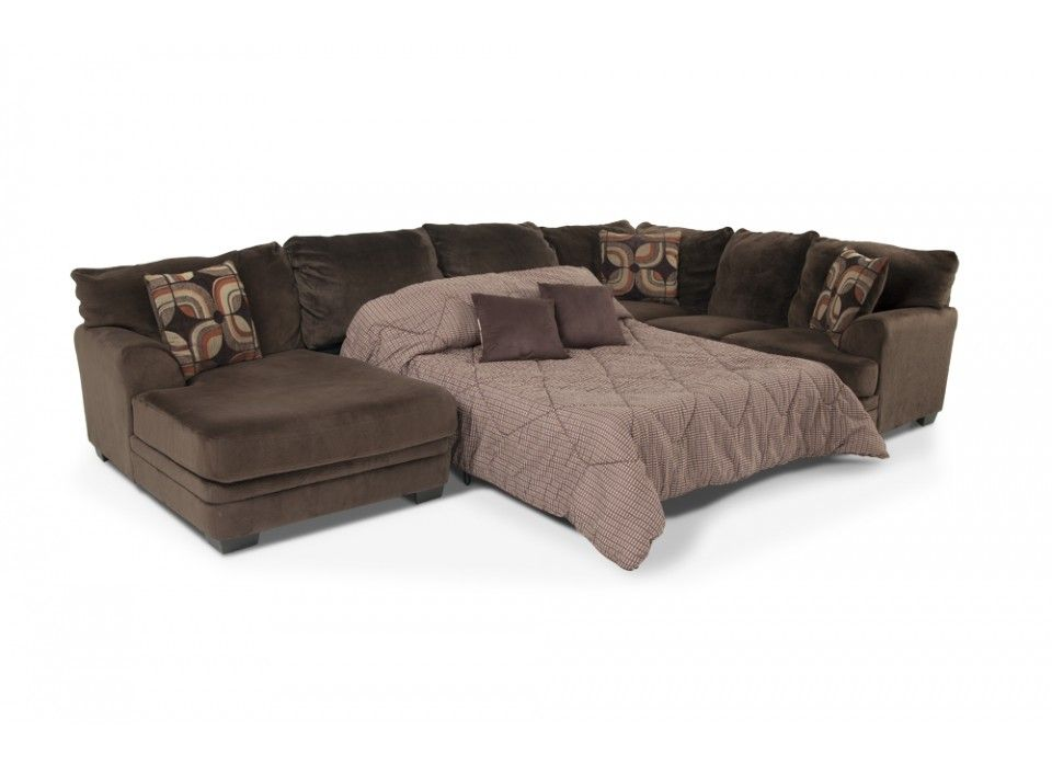 Best Charisma 3 Piece Right Arm Facing Sleeper Sectional 400 x 300