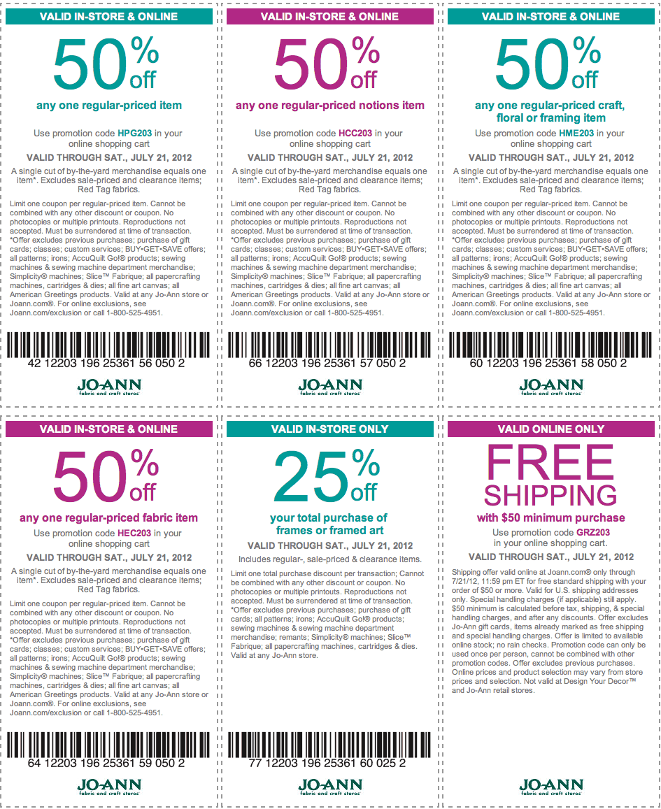 JoAnn Fabric Deal! Printable coupons, Free printable