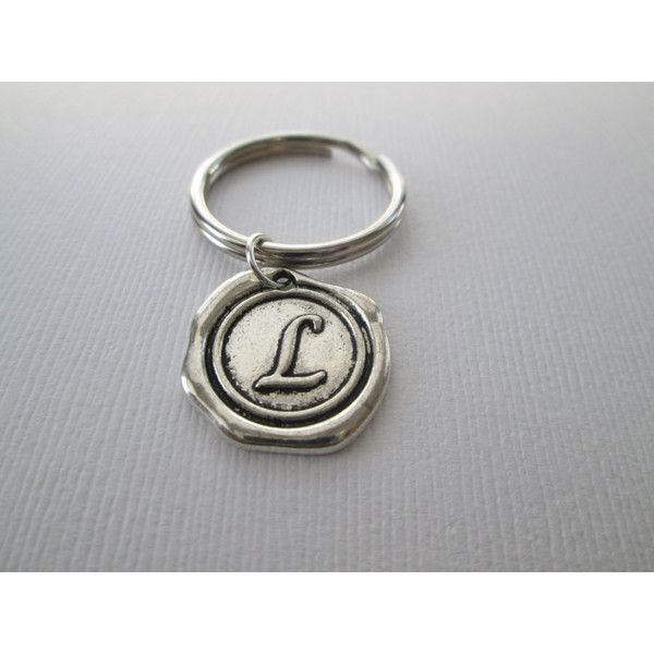 Initial L Keychain (7.80 CAD) ❤ liked on Polyvore