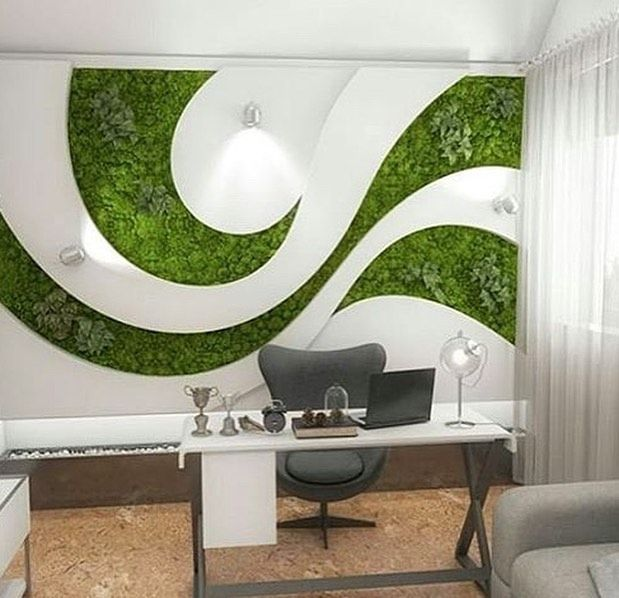 It Is Possible To Apply Algae Decorations To Any Design Graphics Green Wall Design Interior Wall Paint Designs