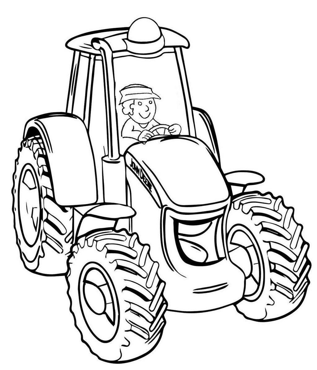 5 Tractor Coloring Pages In With Images