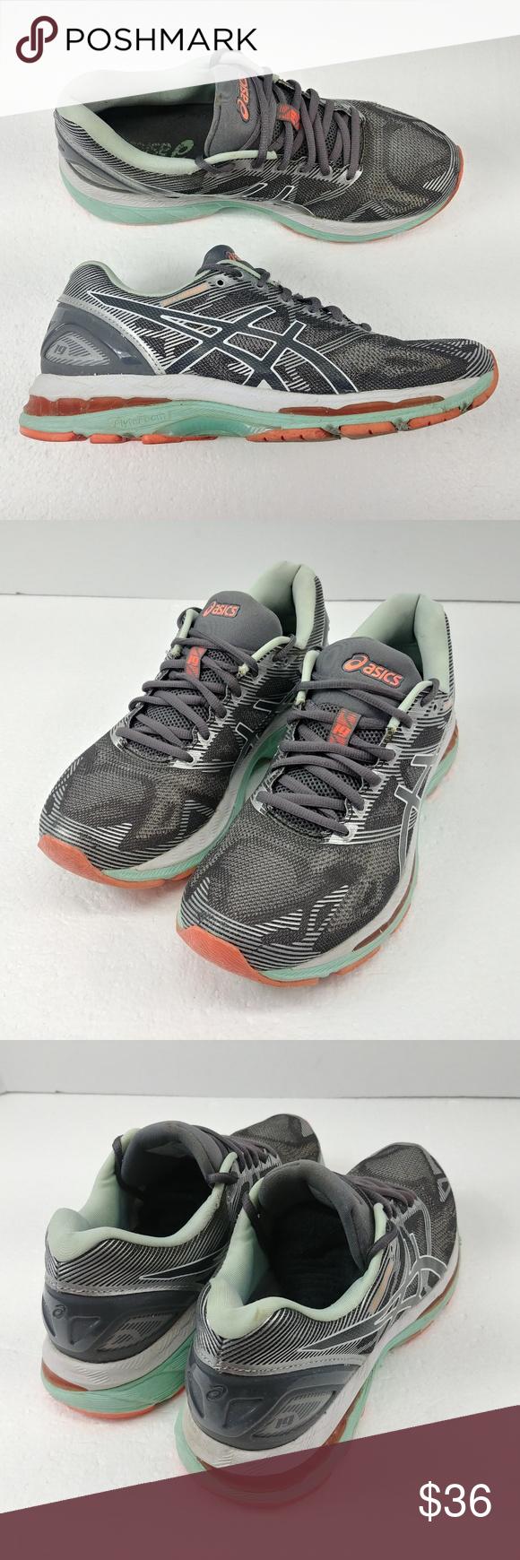 premium selection a5dc7 e93cd Asics Gel Nimbus 19 Running Shoes Gray White T750N Asics Gel ...