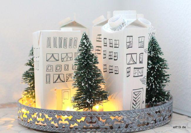 upcycling dienstag tetra pak lichterh uschen rokkies pinterest weihnachten upcycling. Black Bedroom Furniture Sets. Home Design Ideas