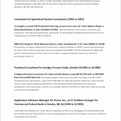69 Elegant Collection Of Sample Resume Of Banking Business Analyst
