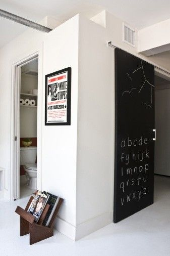 Awesome Sliding Barn Door With Chalkboard Paint Indoor Sliding Doors Chalkboard Door Doors Interior