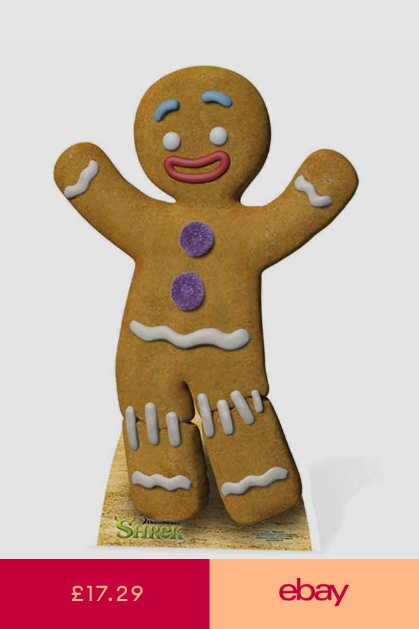 Gingy The Gingerbread Man From Shrek Lifesize Cardboard Cutout Dreamworks Gingerbread Man Shrek Gingerbread Man Drawing Shrek Character