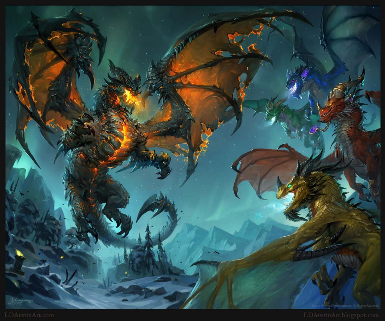 dragones elementales