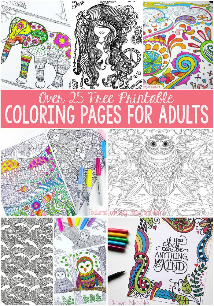 Free Coloring Pages for Adults | Easy peasy, Free printable and ...