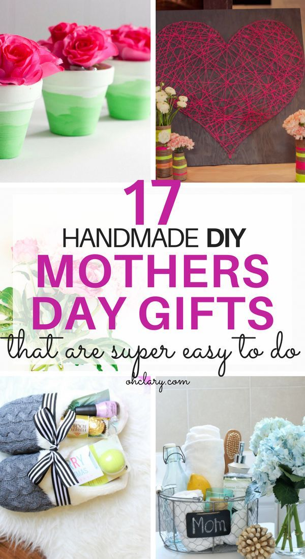 17 Diy Mother S Day Crafts Easy Handmade Mother S Day Gifts Gift