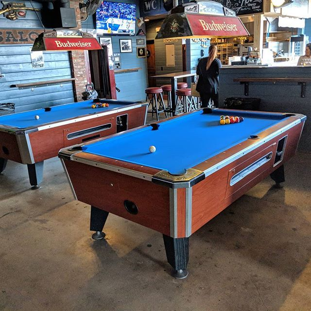 New Electric Blue Felt In These To Valley Coin Ops Billiards Dkbilliards Playpool Barroom Valley Pool Table Pool Table Play Pool
