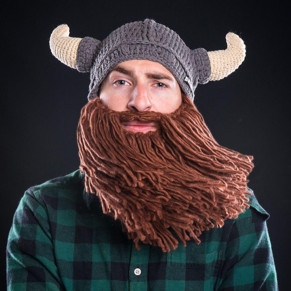 Horned Viking Beard Hat | Wikinger, Mütze und Stricken