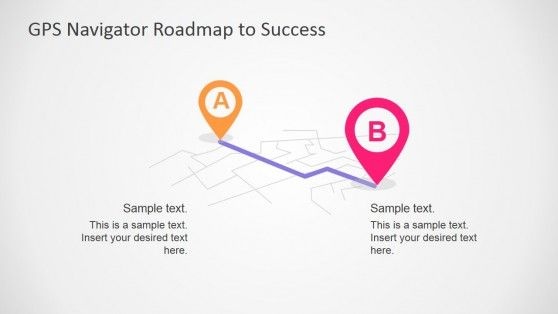 Gps Navigator Roadmap Powerpoint Template  Template And