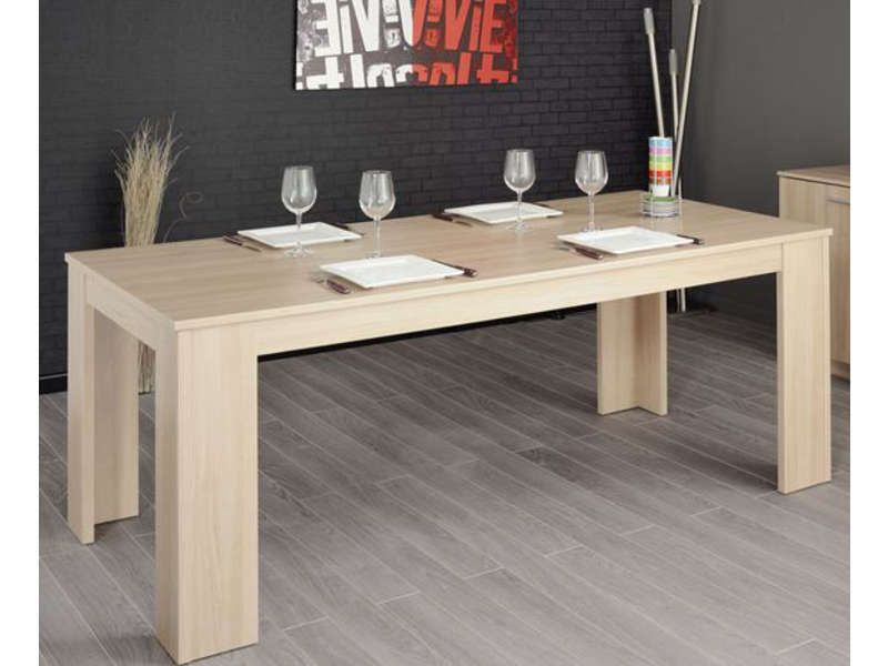 Table rectangulaire BOP décor bruge - Vente de Table de cuisine - Conforama Tables De Cuisine