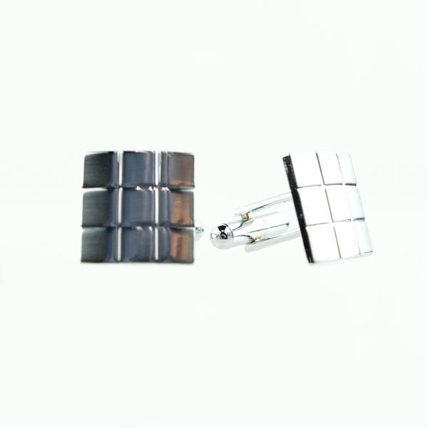 Square Polished Cuff Links
