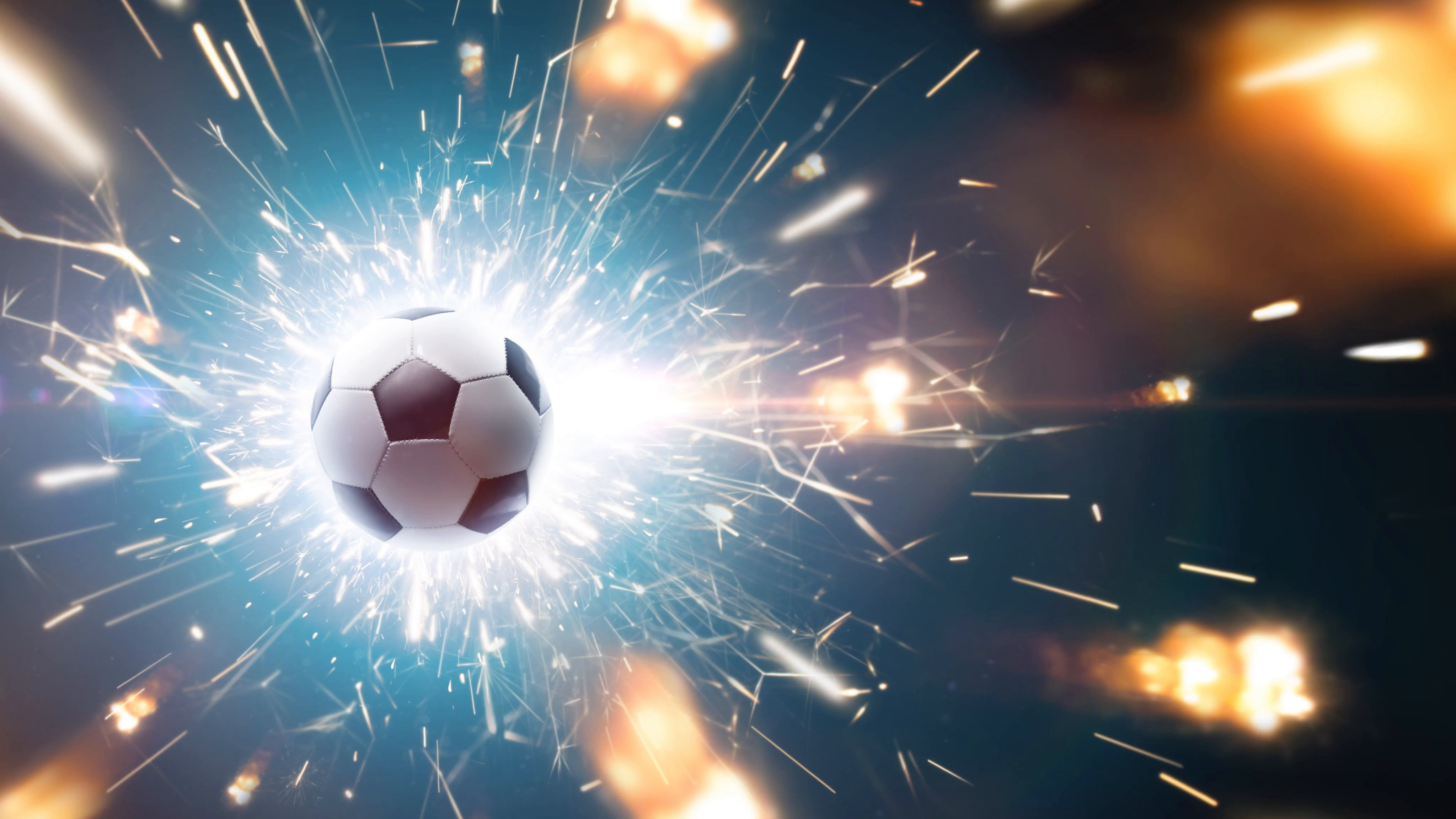 Soccer Ball With Fire Sparks In Action Stock Footage Fire Ball Soccer Sparks Soccer Ball Sports Wallpapers Ball