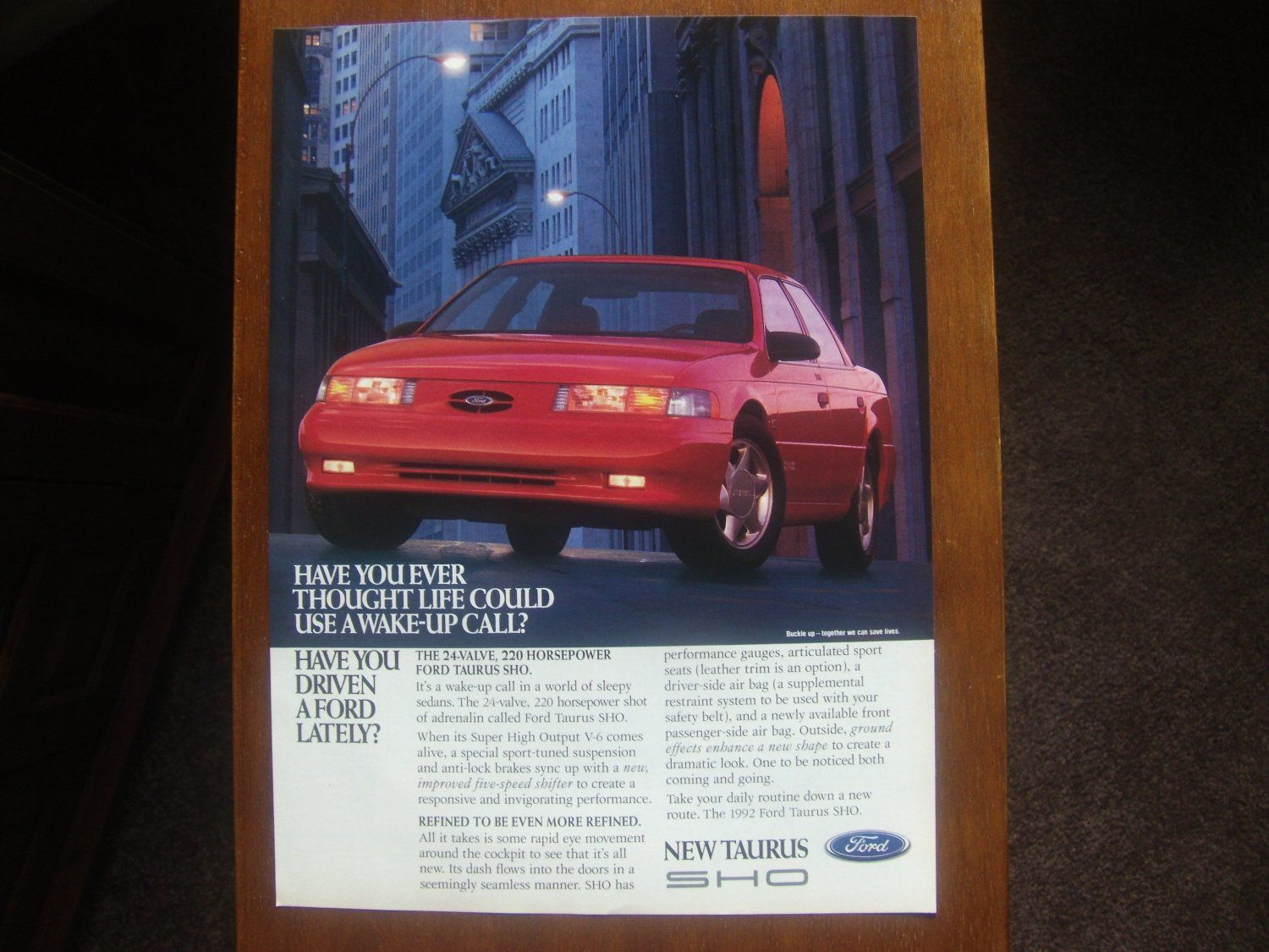 Ford taurus sho classic vintage advertisement ad