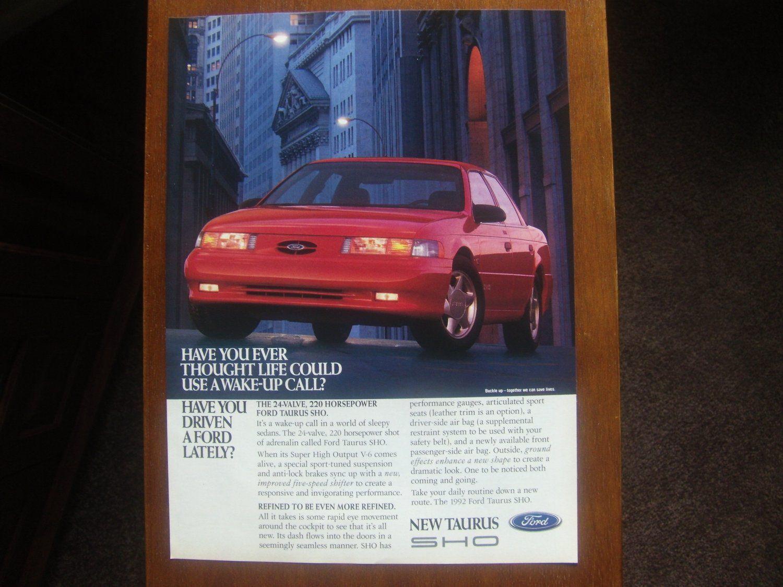 Ford taurus sho classic vintage advertisement ad