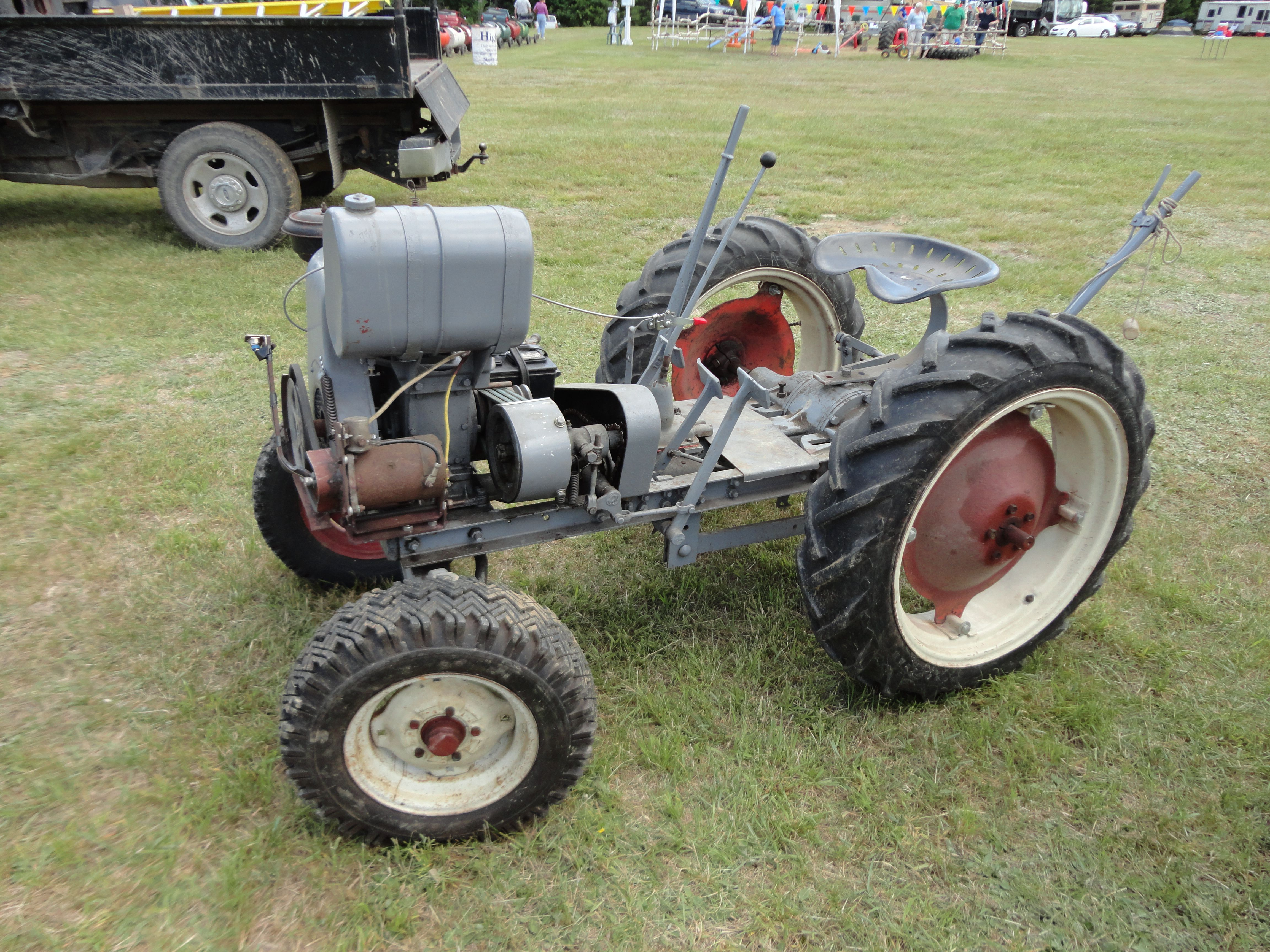 300 Gibson Tractor Looks Like Something That Was Built In A Backyard With Leftover Parts Tractors Antique Tractors Vintage Tractors