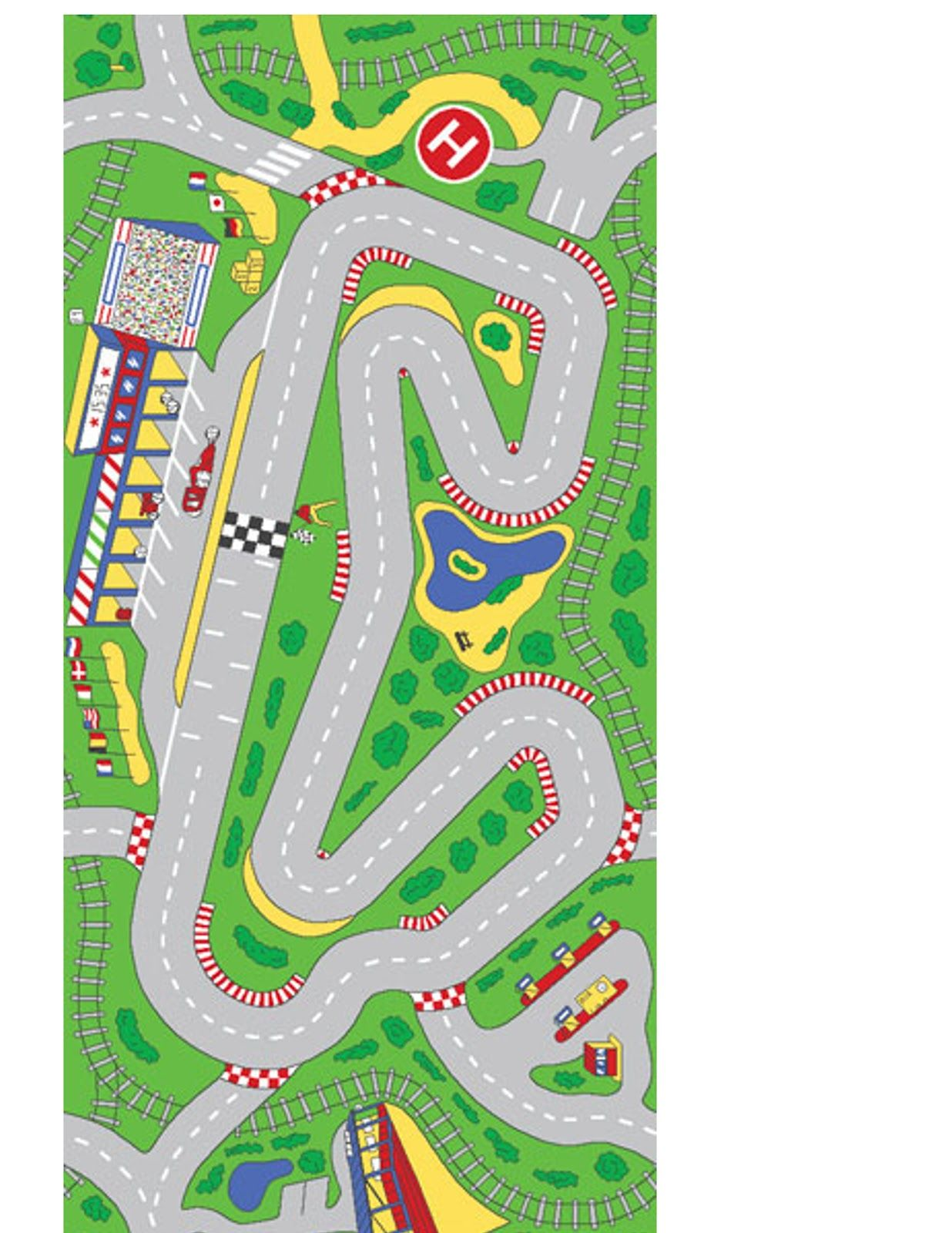 This is an image of Genius Printable Race Track