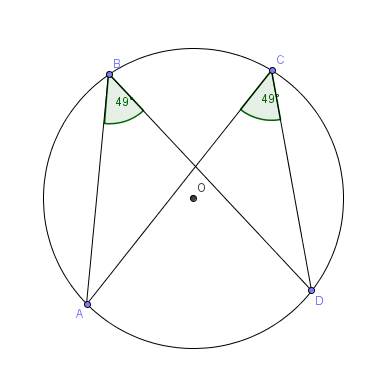 geogebra applet that illustrates the inscribed angles subtended by the same arc are congruent. Black Bedroom Furniture Sets. Home Design Ideas