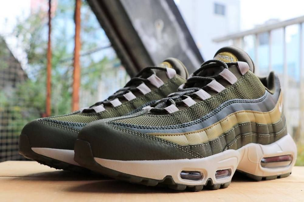 43cc400e7d Nike Air Max 95 Essential | Olive/Bone/Golden Moss | Mens Trainers  [749766-303] #Nike #Lifestyle