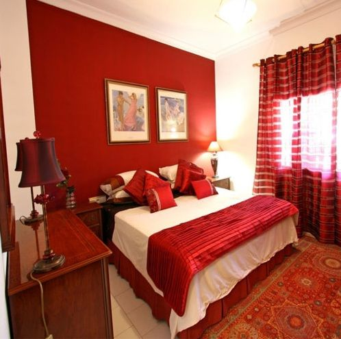 Red And White Wall Paint Decorating Ideas For Small Bedrooms